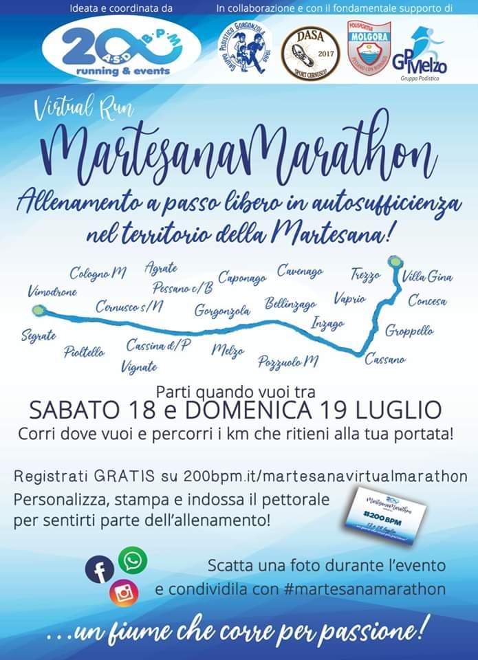 Martesana VIRTUAL Marathon – Sabato 18 e Domenica 19 Luglio